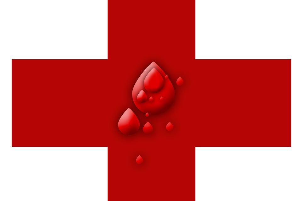 Symbol Blood Health Red Cross Blood Donation Drip